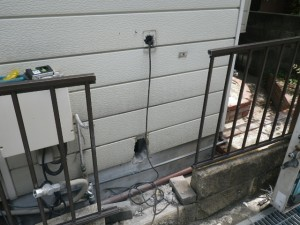 ガス給湯器取替工事 (伊丹市) 循環アダプター取付完了後