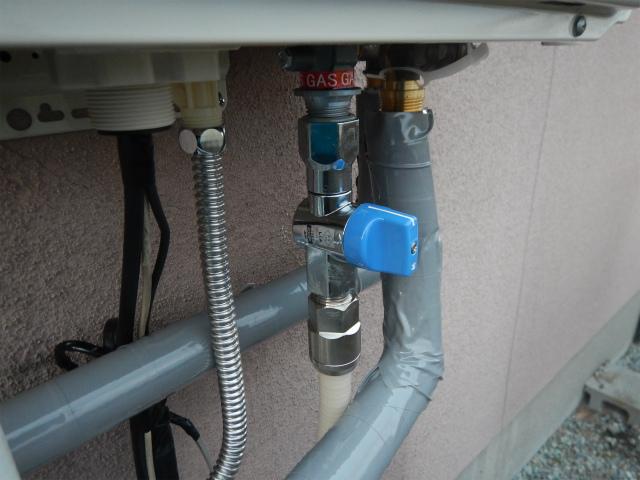 LPGガス配管設置完了後