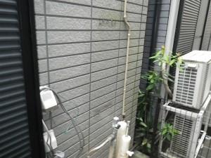 ガス給湯器取替工事(神戸市灘区)既設給湯器撤去後