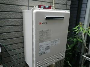 ガス給湯器取替工事(神戸市灘区)本体取付固定完了