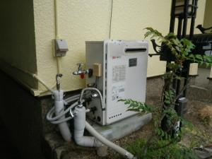 ガス給湯器取替工事(神戸市北区)取替施工前