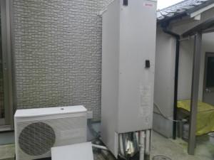 石油給湯器新設工事(篠山市)取替施工前
