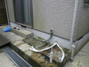 石油給湯器新設工事(篠山市)既設エコキュート撤去完了後
