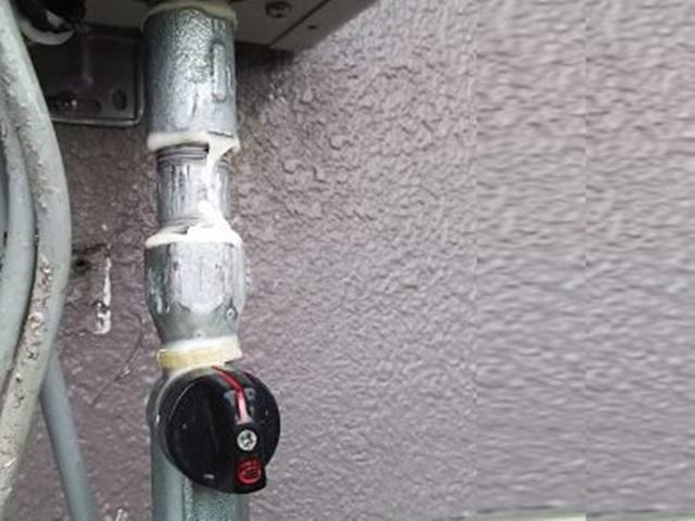 ガス漏れ点検中